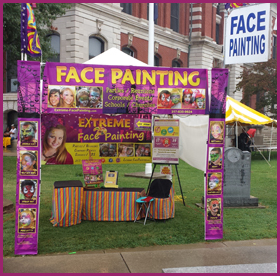 Face Painting Festival Booth